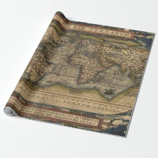 Atlas cadeaupapier - Vintage bank thuis van de wereld ...