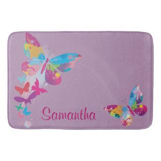 De kleurrijke Badmat van het Ontwerp van Vlinders