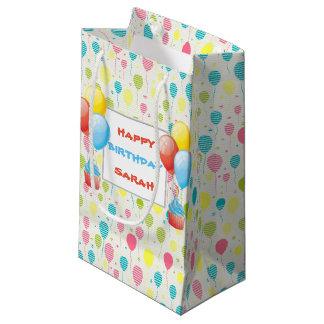 De kleurrijke Ballons van de Verjaardag Klein Cadeauzakje