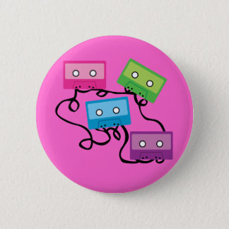 De kleurrijke Banden van de Cassette Ronde Button 5,7 Cm