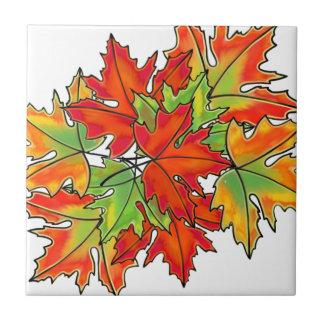 De kleurrijke bladeren van de Bladeren van de Keramisch Tegeltje