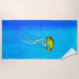 De kleurrijke Blauwe Handdoek van het Strand van