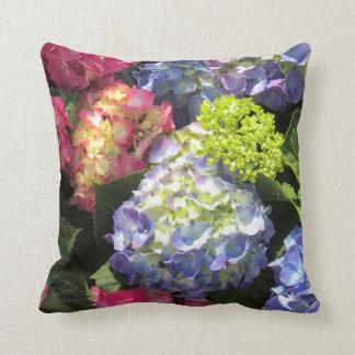 De kleurrijke Bloem van de Hydrangea hortensia Sierkussen