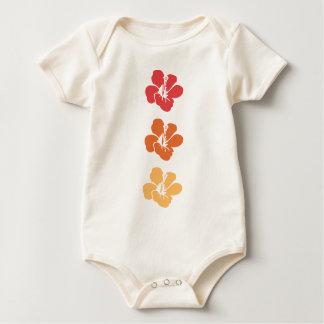 De kleurrijke Bloemen van de Hibiscus Baby Shirt