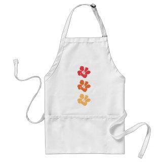 De kleurrijke Bloemen van de Hibiscus Standaard Schort