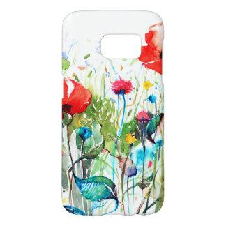 De Kleurrijke Bloemen van de rode Papaver de Samsung Galaxy S7 Hoesje