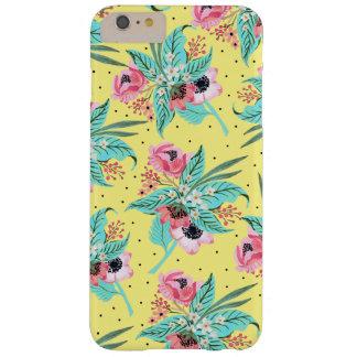 De kleurrijke Bloemen van de Zomer - het Gele Barely There iPhone 6 Plus Hoesje