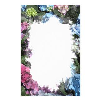 De kleurrijke Bloesems van de Hydrangea hortensia Briefpapier