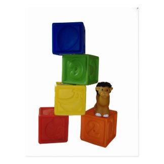 de kleurrijke blokken van het babyspel briefkaart