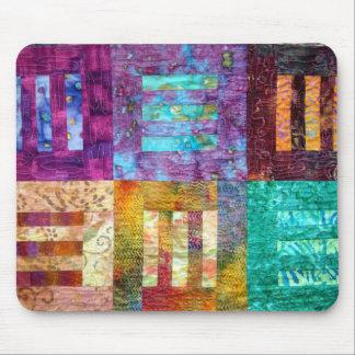 De kleurrijke Blokken van het Dekbed van de Batik Muismat