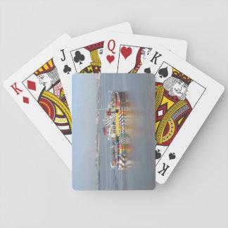 De Kleurrijke Boot van speelkaarten (Dichte