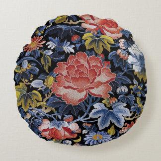 De kleurrijke Chinese Bloemen van het Borduurwerk Rond Kussen