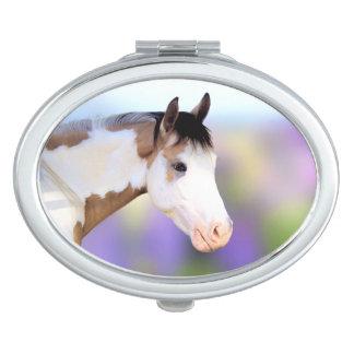 De kleurrijke Compacte Spiegel van het Paard van Make-up Spiegel