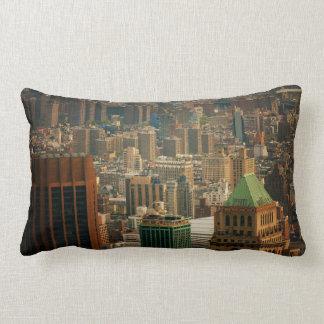 De kleurrijke Daken van de Stad van New York Lumbar Kussen