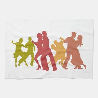 De kleurrijke Dansers van de Tango Theedoek