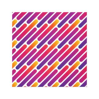 De kleurrijke Druk van het Canvas van het Patroon