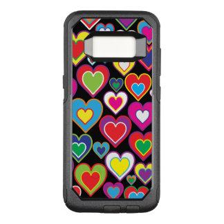 De kleurrijke Dynamische Harten van de Regenboog OtterBox Commuter Samsung Galaxy S8 Hoesje