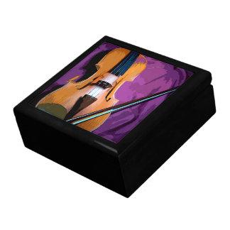De kleurrijke elegante paarse doos van de decoratiedoosje