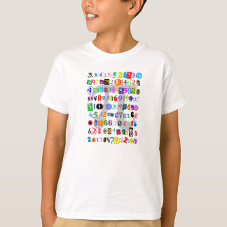 De kleurrijke en Afbeelding van de Pret van Pi T Shirt