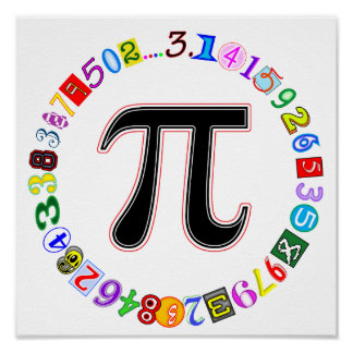 De kleurrijke en Cirkel van de Pret van Pi Poster