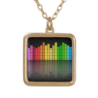 De kleurrijke Equaliser w/Reflection, Koele Techno Goud Vergulden Ketting