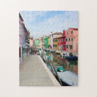 De kleurrijke Figuurzaag van Venetië Puzzel