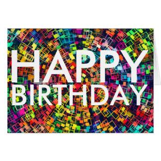 De kleurrijke Gelukkige Kaart van de Verjaardag