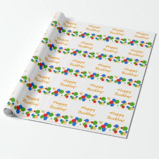 De kleurrijke Gelukkige Verjaardag die van de Stip Inpakpapier