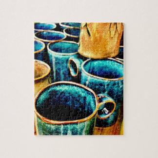 De kleurrijke Giften van de Mokken van de Koffie Foto Puzzels