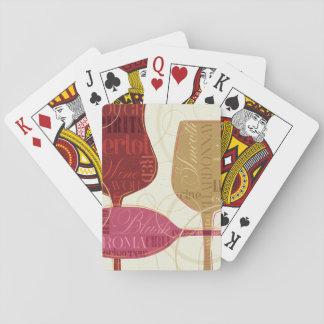 De kleurrijke Glazen van de Wijn Pokerkaarten