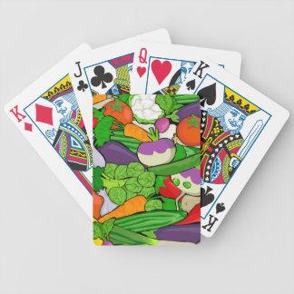 De kleurrijke Groenten van de Cartoon Poker Kaarten