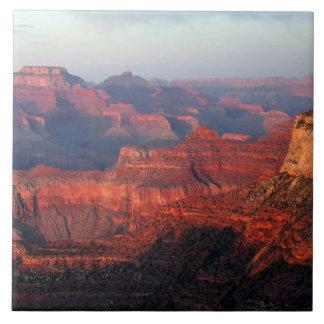 De kleurrijke Grote Zonsondergang van de Canion Tegeltje