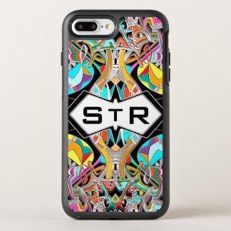 De kleurrijke Hand Getrokken Abstracte Initialen OtterBox Symmetry iPhone 8 Plus / 7 Plus Hoesje
