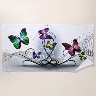 De kleurrijke Handdoek van het Strand van Vlinders