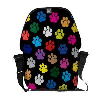 De kleurrijke Hond handtastelijk wordt de Zak van Messenger Bag