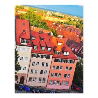De kleurrijke huizen van Nuremberg Gepersonaliseerde Folder