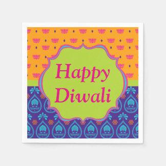 De kleurrijke Indische Viering van Diwali van het Wegwerp Servet