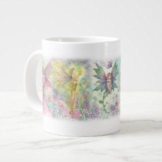 De kleurrijke JumboMok van de Feeën van de Bloem Grote Koffiekop