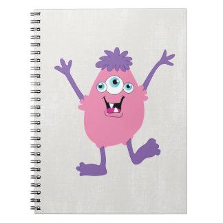 De kleurrijke Kinder Monsters van het Abstracte Ringband Notitieboek