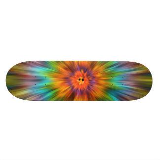 De kleurrijke Kleurstof Starburst van het Stropdas 21,6 Cm Old School Skateboard Deck