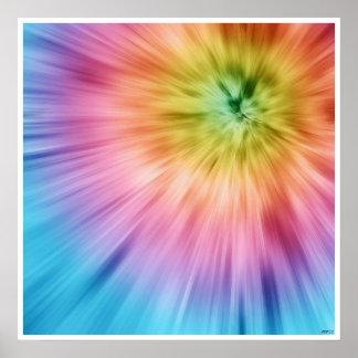 De kleurrijke Kleurstof van het Stropdas Starburst Poster