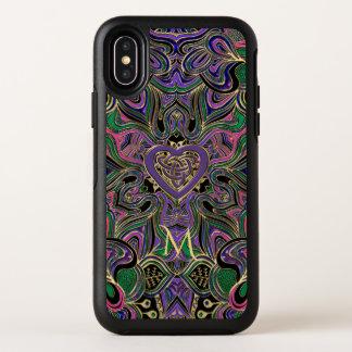 De kleurrijke Knoop Mandala van het Hart van het OtterBox Symmetry iPhone X Hoesje