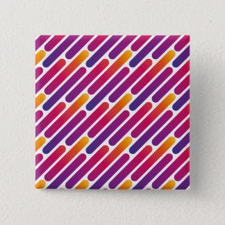 De kleurrijke Knoop van het Patroon van de Lijn Vierkante Button 5,1 Cm