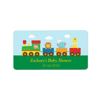 De kleurrijke Leuke Partij van het Baby shower van Etiket