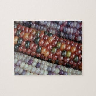 De kleurrijke Maïskolven van de Gem van het Glas Legpuzzel