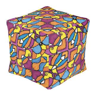 De kleurrijke Moderne Heldere Kleuren van het Vierkante Poef
