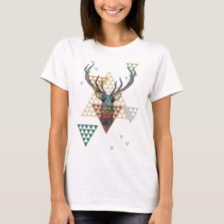 De kleurrijke Moderne Illustratie van de Herten T Shirt
