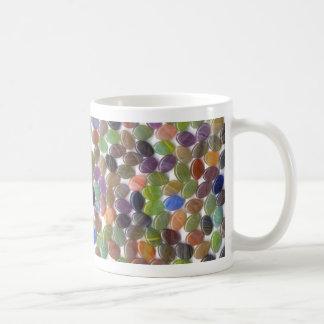 De kleurrijke Ovale Parels van de Steen Koffiemok