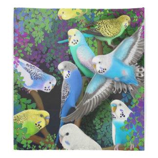De kleurrijke Papegaaien van de Grasparkiet in Bandana