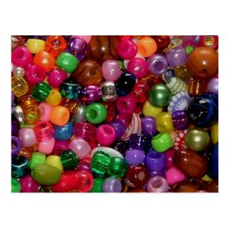 De kleurrijke Parels van Juwelen Briefkaart